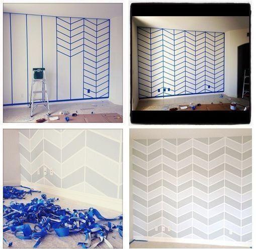 Ideas para pintar paredes de forma diferente y original - Ideas para decorar las paredes ...