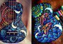 Los coloridos diseños de guitarras de Salty Hippie Art