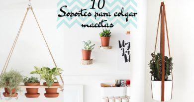 Soportes para colgar macetas: 10 ideas originales para hacer tú mismo
