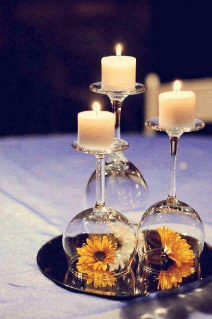 Copas con velas