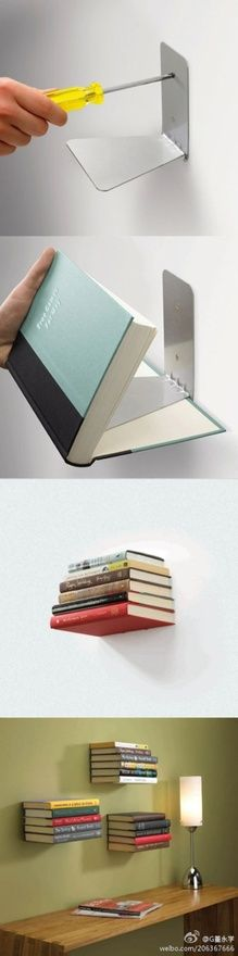 Estantes hechos con libros