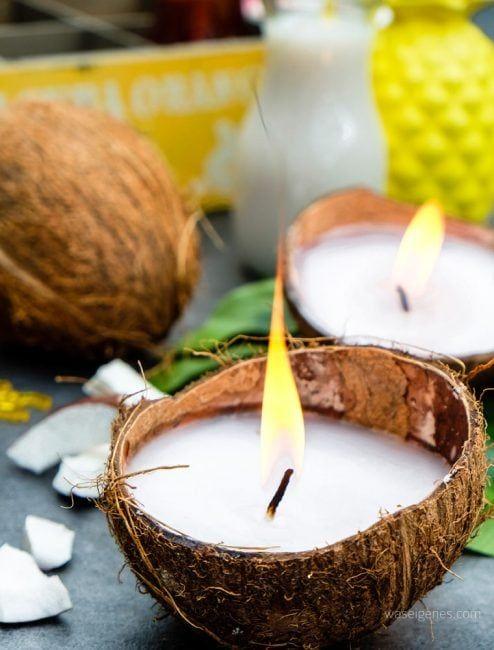 Portavelas con cocos