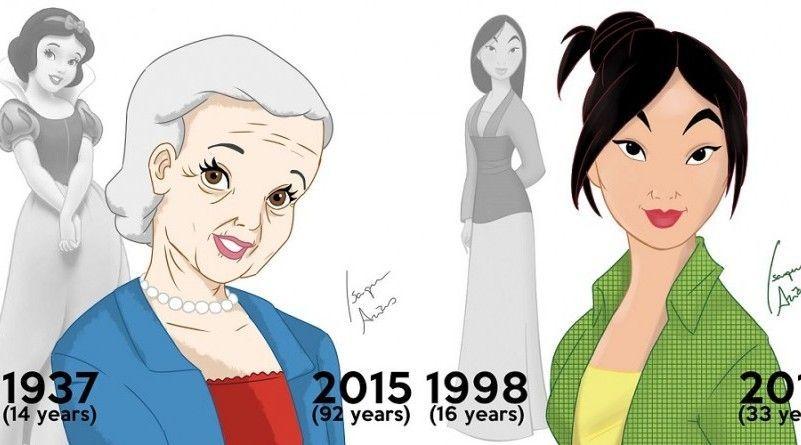 Un artista pinta a las princesas Disney con el aspecto que tendrían a día de hoy