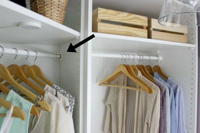 Consejo para organizar armarios pequeños