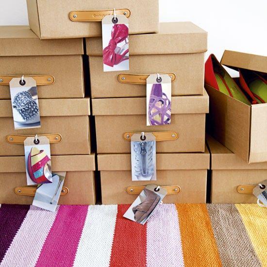 Guardar zapatos en cajas