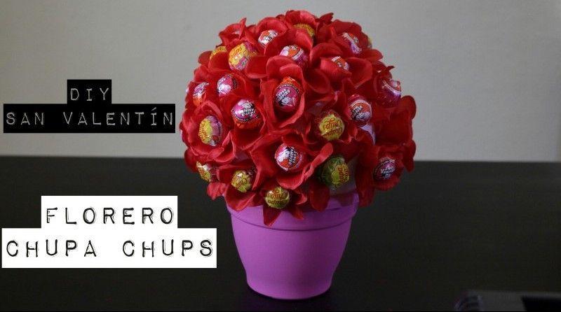 DIY 2 San Valentín: Florero de Chupa Chups