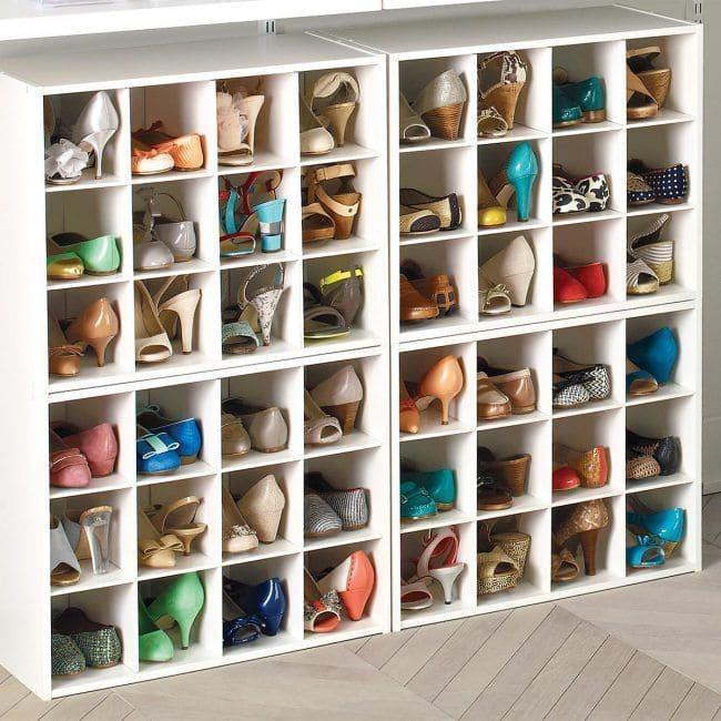 18 ideas para organizar zapatos la cartera rota - Guardar zapatos ikea ...