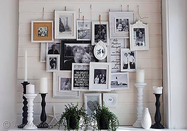 30 ideas para decorar una habitaci n con fotos - Ideas para colgar fotos habitacion ...