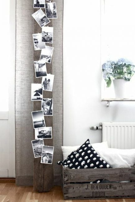 Decorar columna con fotos