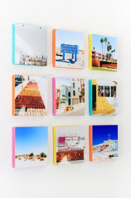 Genial idea para poner tus fotos de Instagram en la pared