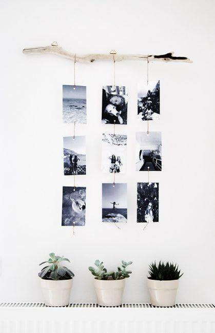 30 ideas para decorar una habitaci n con fotos - Marcos de fotos para colgar ...