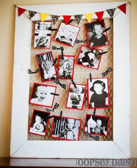 ideas para decorar una habitacin con fotos sin marco