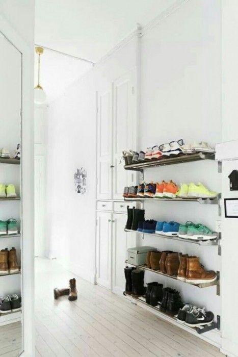 Ideas para organizar zapatos en baldas