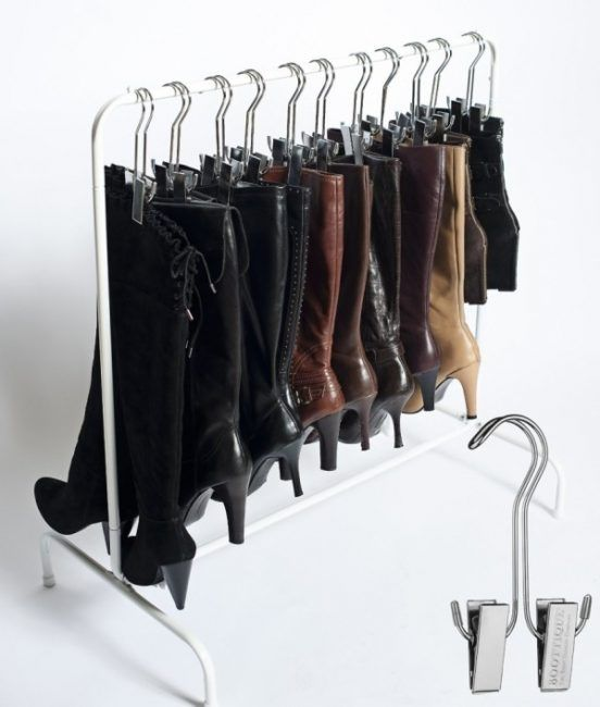 Ideas para organizar zapatos con perchas