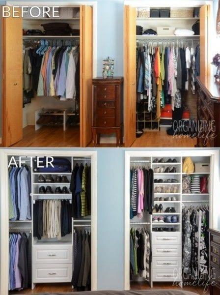 cmo organizar un armario pequeo con mucha ropa - Como Organizar Un Armario