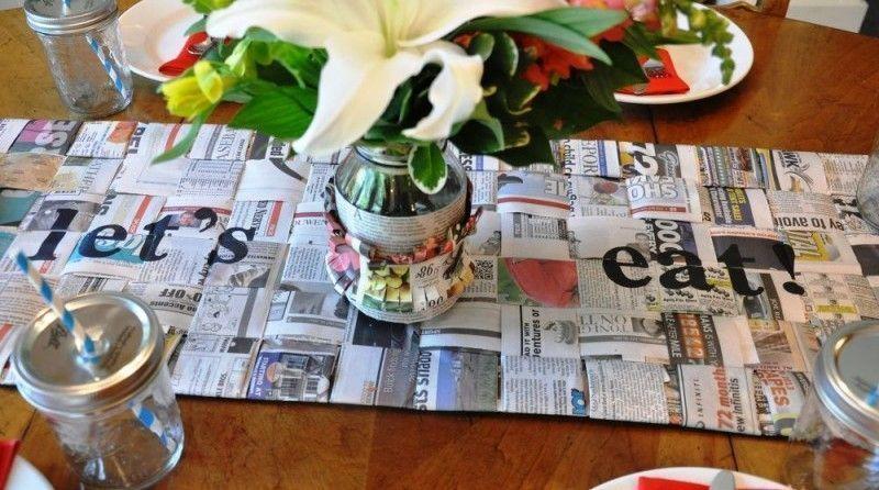 Manualidades con revistas y papel de periódico