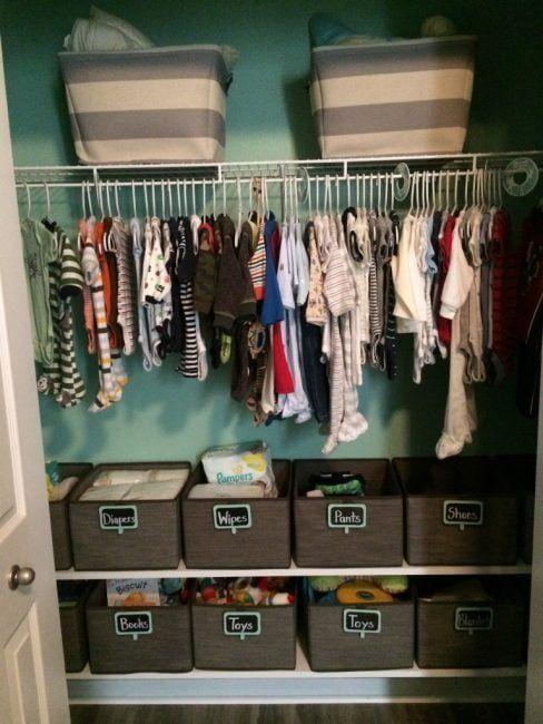 organizar un armario pequeño con cestas