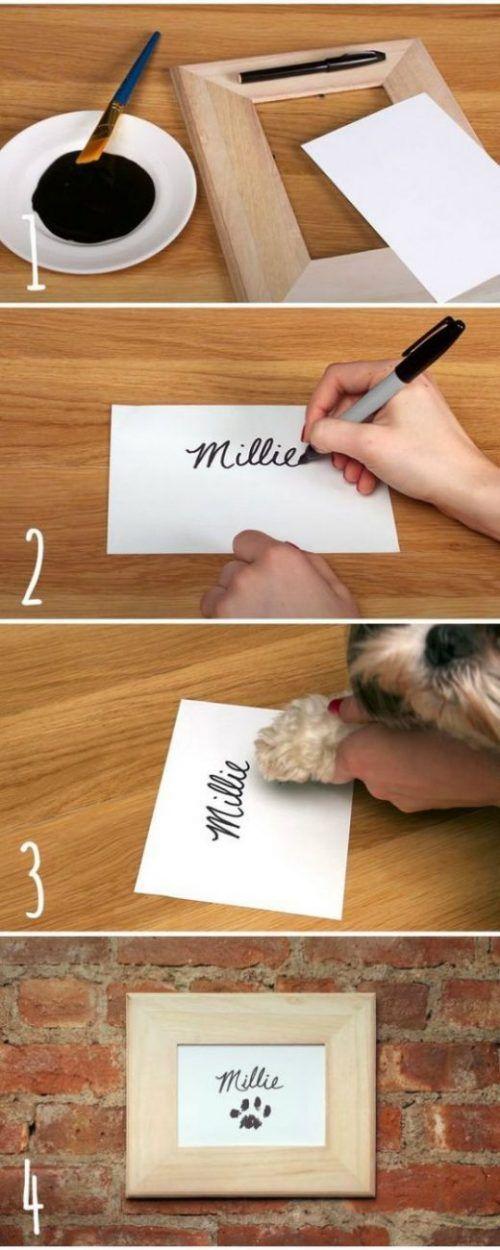 Enmarca la huella de tu mascota 1
