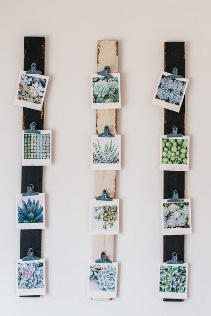 Ideas para colocar fotos - listones