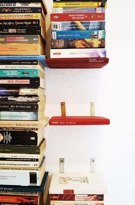 Estantes invisibles para libros - detalle