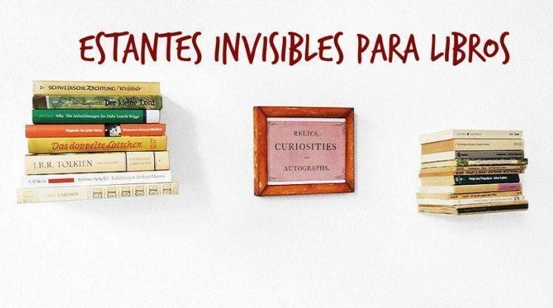 Estantes invisibles para libros c mo hacerlos y qu necesitas - Estantes para libros ...