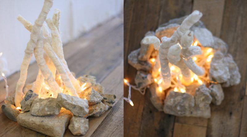 c mo hacer una hoguera decorativa sin fuego y de manera