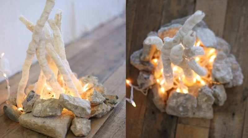 Cómo hacer una hoguera decorativa sin fuego y de manera sencilla
