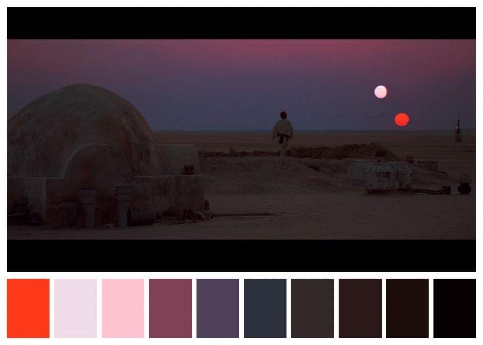 paleta colores star wars