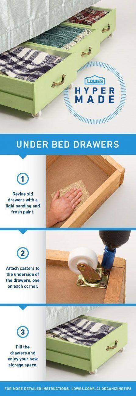 Almacenaje debajo de la cama con cajones