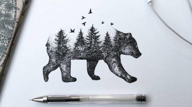 Los impresionantes dibujos sobre naturaleza de Alfred Basha