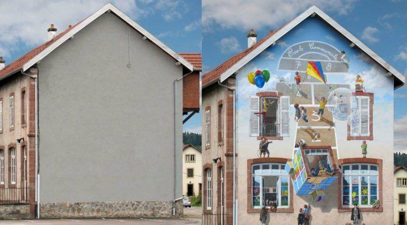Patrick Commecy, el artista que llena de vida las fachadas vacías