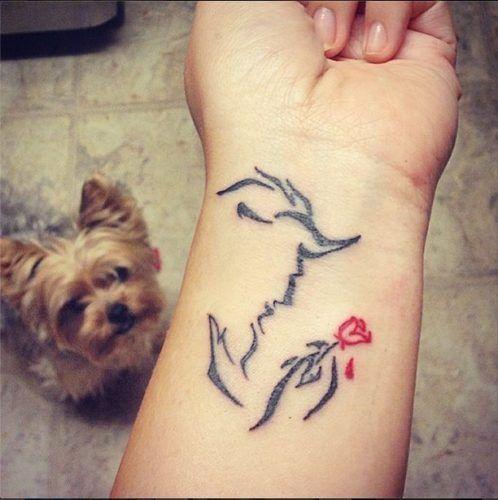 Tatuajes Disney - La bella y la bestia 2