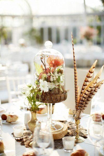 decoración con plantas de interior - bandeja para tartas
