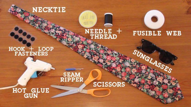 Reciclar una corbata para convertirla en una funda de gafas 1