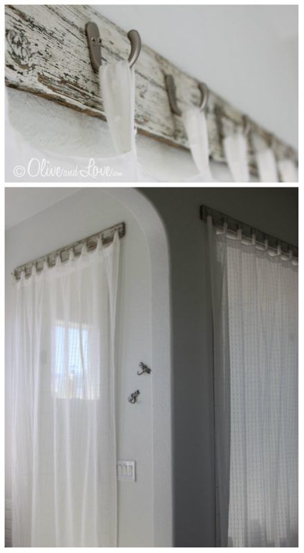 Barras de cortinas originales - ganchos
