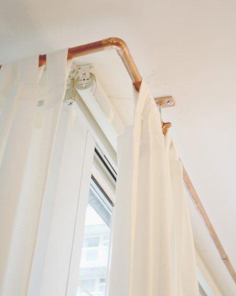 Barras de cortinas originales - tubo de cobre