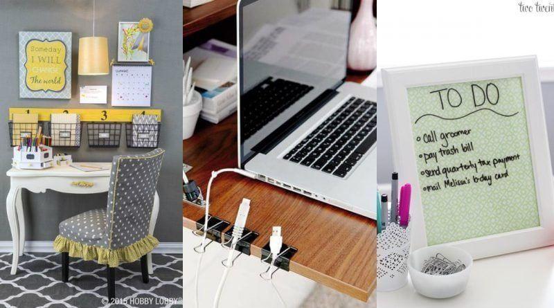 C mo organizar tu escritorio 12 consejos tiles la for Ideas para decorar mi escritorio