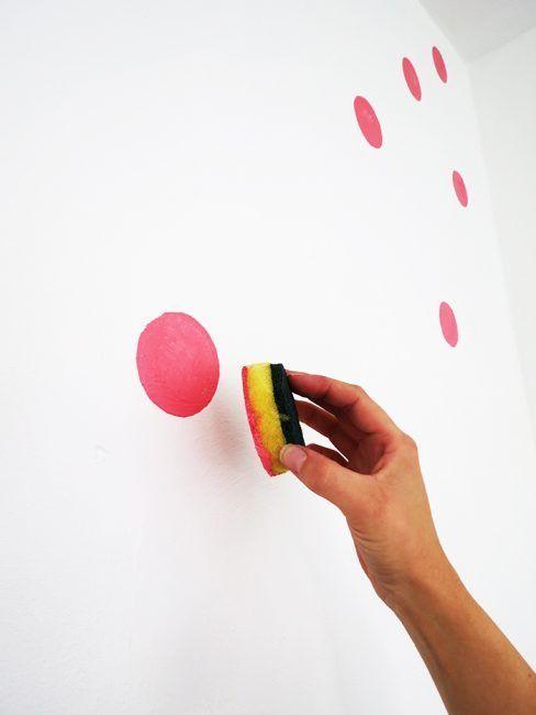 Ideas para pintar paredes de forma original la cartera rota - Formas de pintar una casa ...