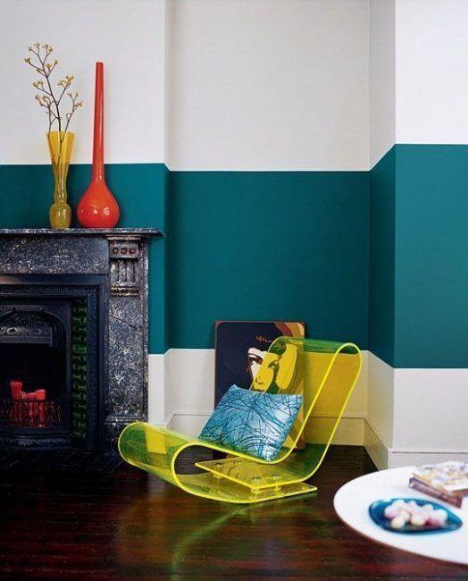 Ideas Para Pintar Paredes De Forma Original La Cartera Rota - Pintar-paredes-de-dos-colores