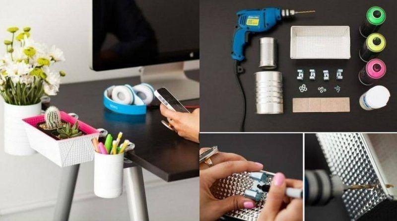 Mejora tu escritorio con este DIY de reciclaje
