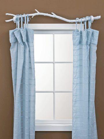 barras de cortinas originales - rama de árbol