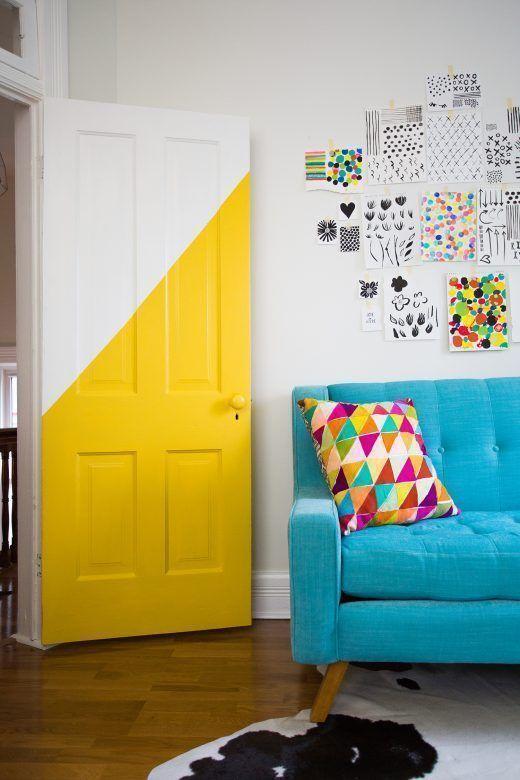 puertas de interior pintadas de colores 1