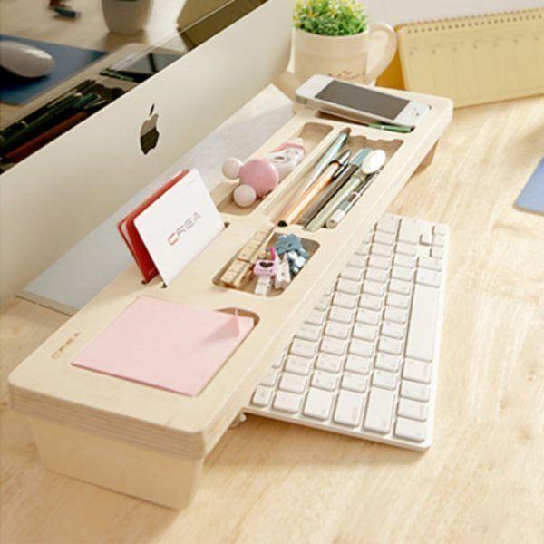 Cómo organizar tu escritorio con una balda