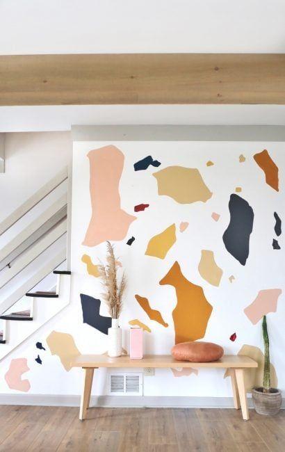 Pintar las paredes imitando el terrazo