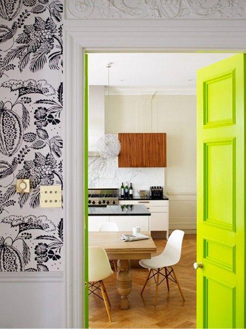 puertas de interior pintadas de colores 12