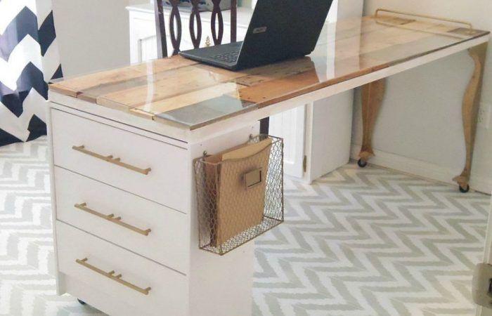 Ikea hack mesa con cómoda