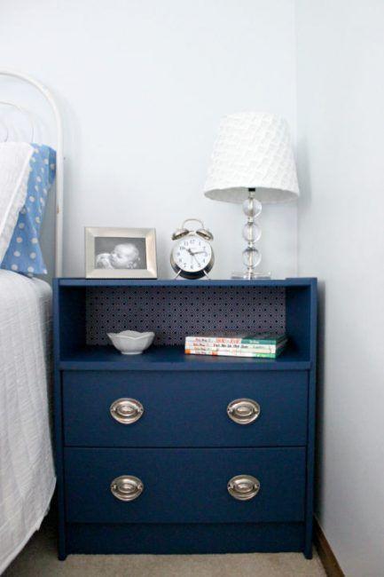 Ikea hack cómoda azul