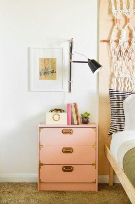 Ikea hack cómoda rosa