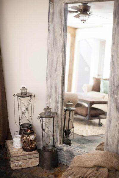 Crea un espejo rústico a partir de un espejo convencional 4