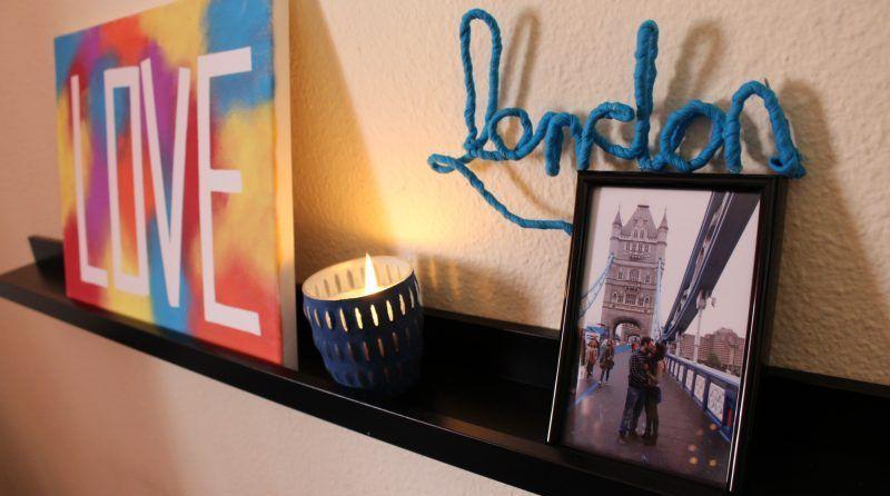 DIY letras decorativas de trapillo y alambre